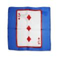 12 Inch Card Silk by Alberto Sitta Magic - 3 of Diamonds