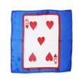 12 Inch Card Silk by Alberto Sitta Magic - 5 of Hearts