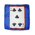 12 Inch Card Silk by Alberto Sitta Magic - 5 of Clubs
