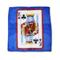 12 Inch Card Silk by Alberto Sitta Magic - King of Clubs
