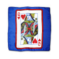 12 Inch Card Silk by Alberto Sitta Magic - Queen of Hearts