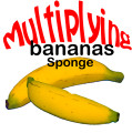 Set of Two Sponge Bananas