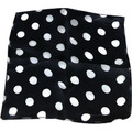 "12"" Spotted Silk (Black with White Dots)"