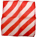 "6"" Red and White Zebra Silk"