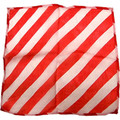 "9"" Red and White Zebra Silk"