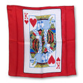 18 Inch King of Hearts Card Silk with Red Background