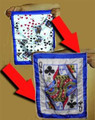 Flash Card Prediction Silk - Queen of Clubs