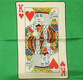 18 Inch King of Hearts Silk with Green Background