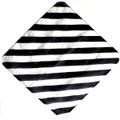 "24"" Black and White Zebra Silk For Magic Tricks"