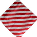 "12"" Red and White Zebra Silk for Magic Tricks"