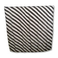 "24"" Black and White Zebra Silk"