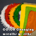 Color Changing Blendo Wreaths with Silks
