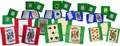 Set of 28 Playing Card and Blank Card Silks