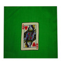 "9""Card Silk Set (queen of hearts + blank) with Green Background"
