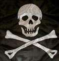 "18"" Pirate Silk for Magic Tricks (Skull and Crossbones)"