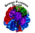 Mylar Spring Flowers - Large 12 Inch