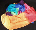 9 Inch by 16 Foot Multicolor Silk Steamer