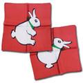 """18"""" Red Rabbit/Duck Silk by Vincent DiFatta"""