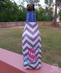 Zipper Bottle Holder, 12 Ounce Bottle Cooler