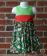 Christmas Candy Toddler Dress, Christmas Dress, Size 18m