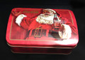 Coke Coca Cola Santa Christmas Treasure Chest Tin with Hinged Lid