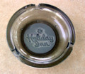 Vintage HOLIDAY INN Smoke Colored Round Embossed Glass Ashtray - 4.5 inch Diamet