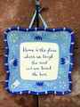 2003 Hallmark Kimberly Hodges Wall Plate Home is Where We Laugh Most Love Best