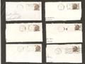 Set of Six Franklin D. Roosevelt 6 Cent Postage Stamps Post Marks - 1968 S571