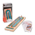 BNIB Pressman Solid Wood Cribbage Set with Playing Cards Included