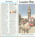 Vintage British Tourist Authority Road Map of London - 1979