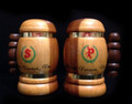 Vintage Wood Beer Stein Salt and Pepper Shaker Set - Mount Vernon, VA
