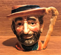Vintage Arnart 5th Ave Hand Painted Hobo Toby Coffee Mug 2225 - 1960's