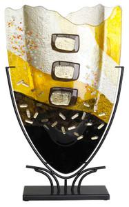 Large Fused Glass  V Vase 61059