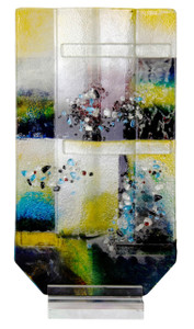 "10"" x 19"" American Impressionism Vase with Acrylic Stand (70122)"
