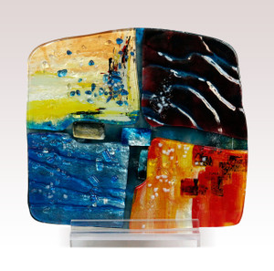 "16"" x 15"" Sculpture Abstract with Acrylic Stand (71131)"