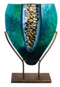 """11"""" x 16"""" Tear Drop Vase GOLD KISSED STAND 71173"""