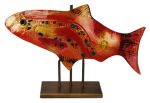 "18"" x 11"" Red Fish GOLD KISSED STAND 71151"
