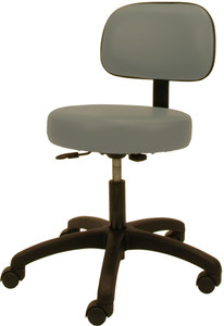 Winco Gas Lift Stool with Back
