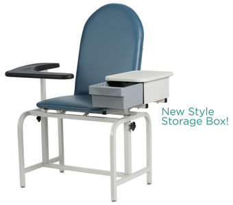 Winco Model 2572 Padded Blood Drawing Chair with Cabinet