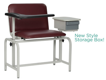 Winco Model 2574 XL Padded Blood Drawing Chair with Cabinet