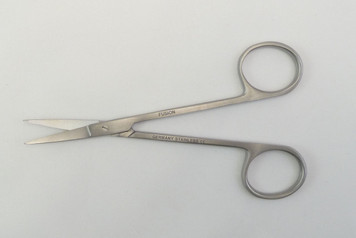 Iris Scissors, Ribbon Type, Fine, Pointed Tips, Curved 4.1""