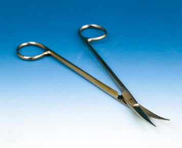 Gradle Ophtal Scissors, Curved, Sharp 9.5cm