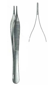 Dressing Forceps, ADSON-MICRO, 4 3/4""