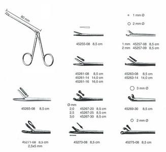 """Ear Polypus Forceps, HARTMANN, 3.4"""" working length 1x2 teeth, 1.8mm x 9.5 mm jaw"""