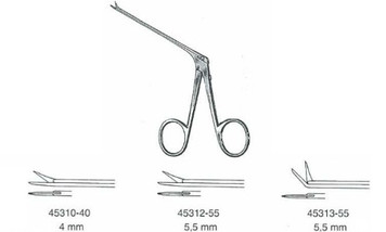 Ear Scissors Micro, BELLUCCI, Micro standard, 5.5mm, Curved left