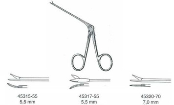 Ear Scissors Micro, SHEA, straight, 7.0MM