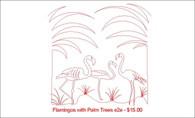 Flamingos with Palm Trees e2e