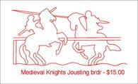 Mideval Knights Jousting brdr