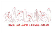 Hawaii Surf Boards with flowers and waves