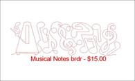 Musical Notes brdr